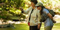 women fly fishing ohiopyle