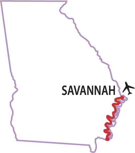 Georgia tour map