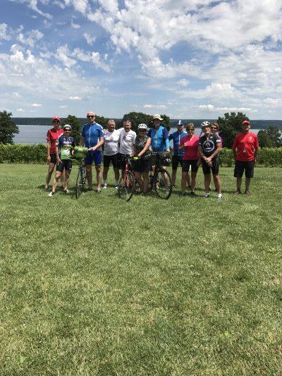 Finger Lake Bike Tour Riders on Wilderness Voyageurs Bike Tour